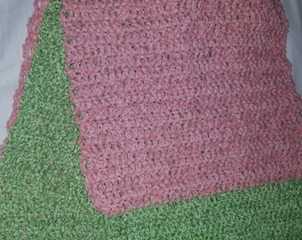 Rose and spearmint  colored scarf