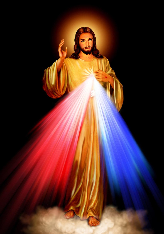 Divine Mercy Jesus Print POSTER A4-A3 Jesus Picture Catholic