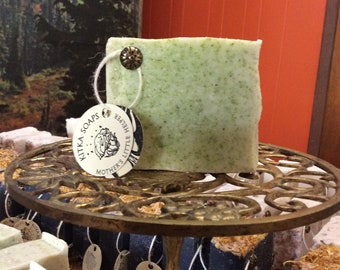 KITKA SOAPS basil, rosemary & lime blend HANDMADE soap