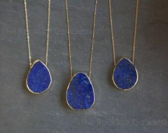 Lapis Lazuli / Blue Lapis / Lapis Lazuli Necklace / Lapis Necklace / Lapis Pendant / Lapis Lazuli Jewelry / Gift for Mom