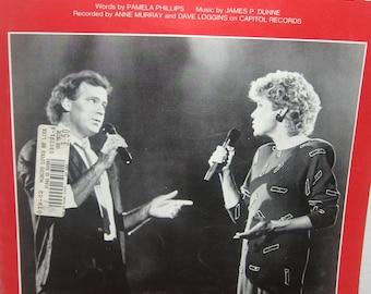 Nobody Loves Me Like You Do Original Sheet Music 1984 Anne Murray Dave Loggins