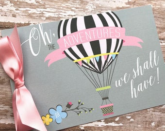 Hot Air Balloon Baby Shower Invitation, Adventure baby shower, Baby Shower Banner, Up and Away Baby Shower Invitation, Sample