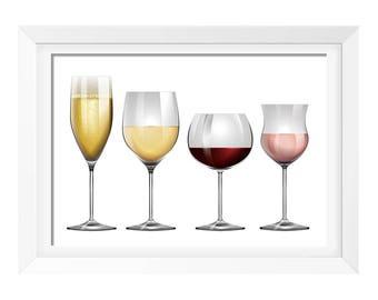 Wine Print, Wine Art, Wine Print, Kitchen Wall Art, Kitchen Print, Kitchen Art Print, Instant Download Printable Art, Wine Lovers Gift, Beer