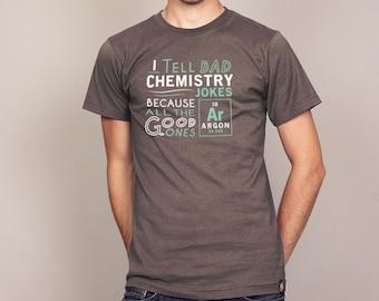 ARGON CHEMISTRY JOKE T-shirt science tshirt geeky tshirt elements Mens and Ladies Sizes