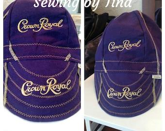 Crown Royal Welder's Cap, Crown Royal Cap, Welder's Cap **Purple Cap**