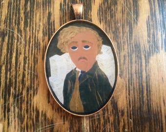 GK Chesterton byzantine folk icon Pendant