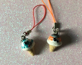 Polymer Clay Best Friends Droid Cell Phone Straps