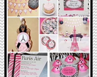 Summer In Paris Party - FULL Printable Party Collection