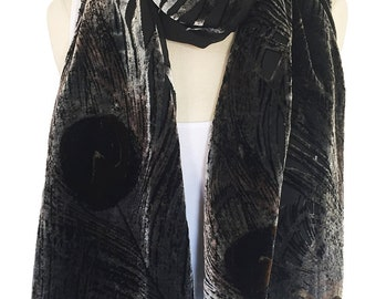 Women's Vintage Abstract Silk-Blend Scarf