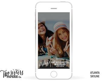 ATLANTA SKYLINE SNAPCHAT Filter - Atlanta Bachelorette Snapchat - Atlanta Skyline Snapchat Filter - Atlanta Bachelorette Geofilter