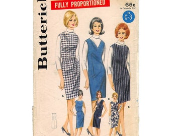 Butterick 3114 Original Vintage 1960s Misses' Sheath Dress Pattern - Bust 34