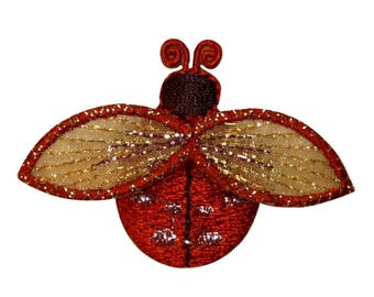 ID 1616N Ladybug Fly Patch Garden Beetle Insect Bug Embroidered Iron On Applique