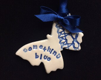 something blue good luck butterfly bride on wedding day or hen night bachelorette party bridal shower