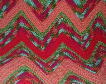 Bright warm colors lapthrow Afghan