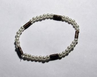 Pearly bronze bracelet