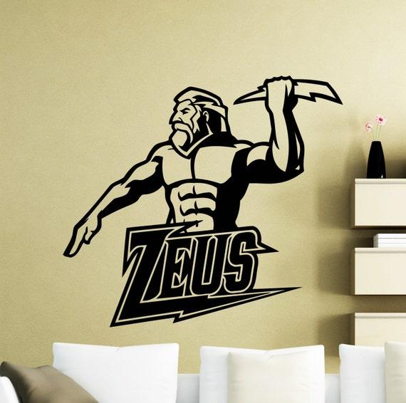 Zeus Wall Sticker Ancient Lightning Greek God Vinyl Decal Home
