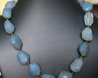 ON SALE Wear Anywear Chalcedony Silver Necklace