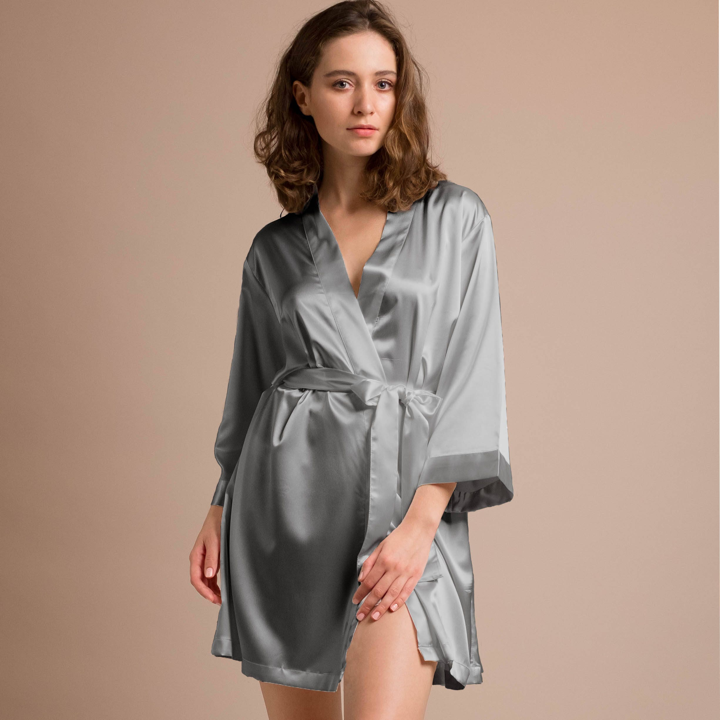 Bridesmaid Dressing Gowns wedding dressing gown navy satin
