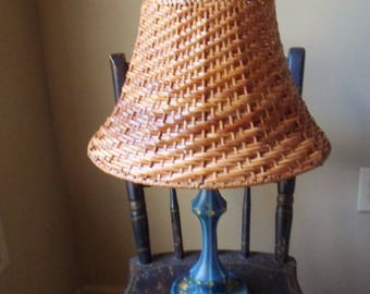 Wicker lamp shade etsy wicker lamp shade boho bell lamp shade aloadofball Choice Image