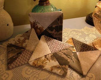 Recycled coasters, uniform coasters, military hot pads, uniform mug rugs, military fabric coasters