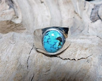 Turquoise In Sterling Silver Ring RF922