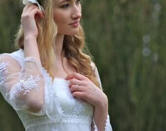 Boho / Hippy / Pagan / Woodland Wedding / Bridal Gown 'Clover'