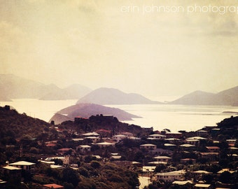 beach photography caribbean landscape tropical home decor island photography purple home decor St Thomas Virgin Islands