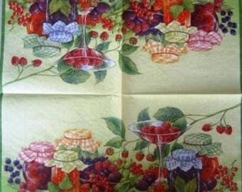 TOWEL in paper Fruits and #AL031 jam jars