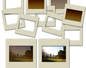 Digital scrapbooking Slides for photo frames