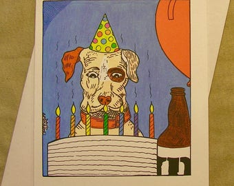 Hoppy birthday card etsy lagunitas birthday card hoppy birthday regular size card and mini version bookmarktalkfo Images