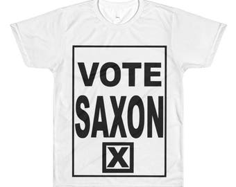 Vote Saxon The Master Men All-Over Printed T-Shirt