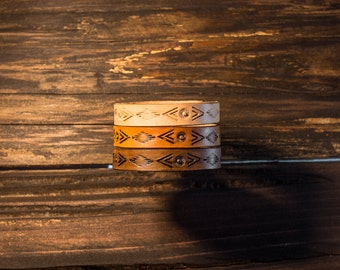 Bohemian Leather Bracelet, Boho Leather Bracelet, Leather Bracelet, Native American Bracelet, Southwest Leather Bracelet, Boho Bracelet