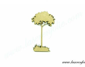 Silhouette of a tree in Meadow, made of medium size 5cm
