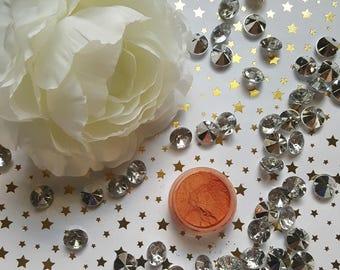 Shade Beauty Tallahassee Orange Mineral Eyeshadow Pigment Cruelty Free, Orange Eyeshadow, Warm Eyeshadow, Loose Pigment
