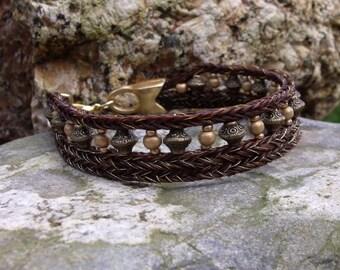 Goldfinger Bracelet made of horsehair. Chunky yet elegant.