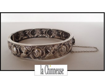 ANTIQUE ART NOUVEAU Bracelet / sterling silver Bracelet / silver open Bangle / vintage Art Nouveau / Vintage Jewelry / Collectible.
