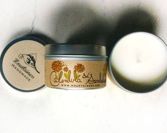 sandalwood gift scented candle / sandal wood soy candle gifts / natural sandalwood  boho candle gift sandalwood scented soy candle