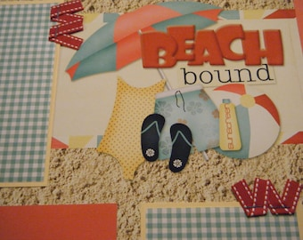 Beach Bound  Premade 12x12 Scrapbook Pages for the Beach Boy GIRL SUMMER