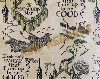 Luxury Harry Potter Gift Wrapping Paper, Marauder's Map Wrapping Paper