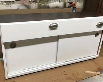 Custom Cabinet for small inset in home office