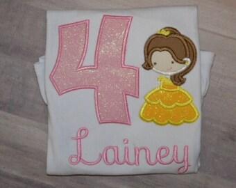 Jr. Princess Belle Birthday shirt