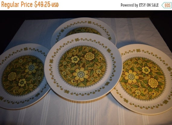 Delayed Shipping Noritake Progression Festival 4 Dinner Plates Vintage Set of 4 Plates Hard to Find Rare 1970s Noritake Replacement Disconti