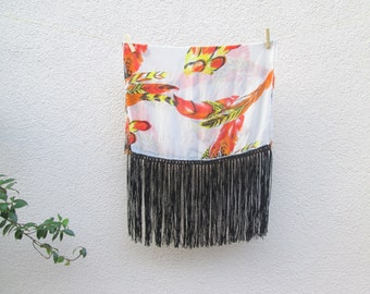 scarf with fringe, teacher gifts, girl gift, chiffon scarf, long fringe scarf, bikini cover up, unique gift, wife gift, mom gift