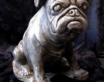 """Pug!  """"My first dog sculpture"""""""