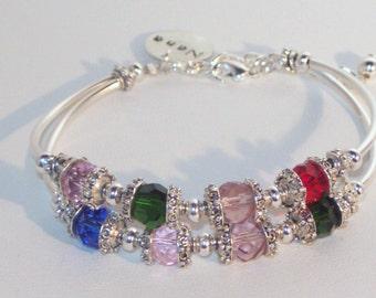 Swarovski Crystal Jewelry -  Mothers or Grandmothers Bracelet