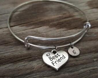 Best Friend Bangle Bracelet - Friend Gift - Friend Jewelry - Best Friend Gift - Bestie Gift - BFF Gift - I/B