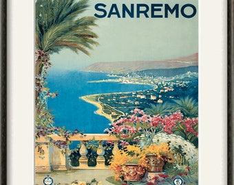 Ospedaletti San Remo A4 Photo Print Art