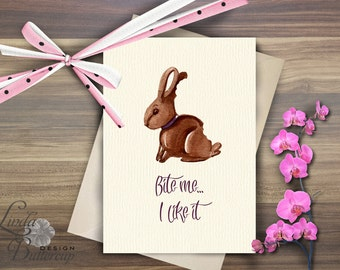 Easter Printables, Funny Easter Card, Easter bunny, Easter card, easter decor, Bunny card, Easter greeting card, Spring art, Chocolate bunny