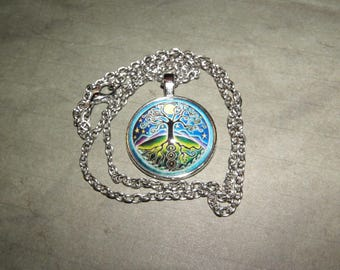 Cabochon Necklace Tree of Life about 50 Cm