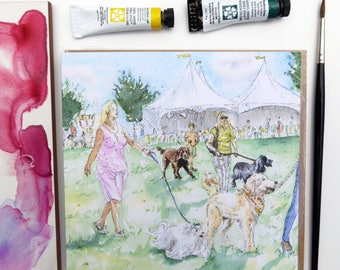 Dog Show Dolly's Greeting Card Village dog show